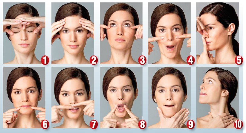 step by step face yoga